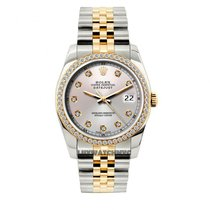 Rolex Datejust Men's 36mm Light Champaigne Dial Yellow...