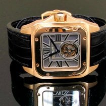 Cartier Santos 100 pre-owned 46.5 x 54.9 mmmm Crocodile skin