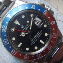 Rolex 1967 1st Owner Mark I GMT 1675 Unpolished Orange Bezel