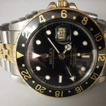 Rolex Gmt Master 16753 Vintage 18k/ss 9 Million Plastic...