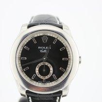 Rolex Cellini Platinum 38mm Black No numerals