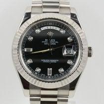 Rolex Day-Date II Oro blanco 41mm Negro