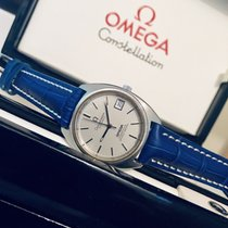Omega Constellation Auto Mens vintage watch blue grey dial + Box