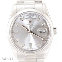 Rolex Day-Date 36 Platinum 36mm Silver