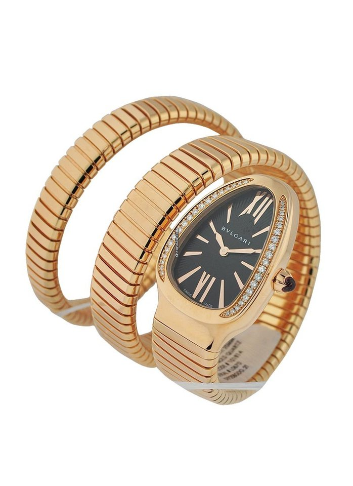 951105223 Bulgari 101814 SPP35BGDG.2T Serpenti DoubleTubogas Bracelet... for AU$  33,208 for sale from a Trusted Seller on Chrono24