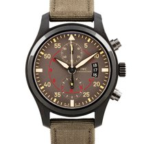 IWC Pilot Chronograph Top Gun Miramar pre-owned 46mm Chronograph Flyback Date Textile