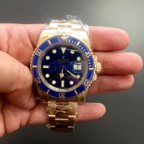 Rolex Submariner Date Gult gull 40mm Blå Ingen tall
