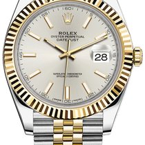 Rolex Datejust 41mm Steel and Yellow Gold 126333 Silver Index...