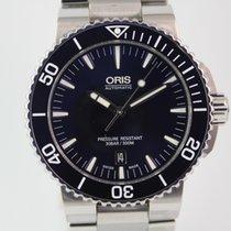 Oris Aquis Date Automatik #A3370 Box, Papiere, Stahlband