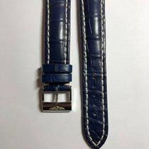 Breitling Lederarmband Band Kroko Blau 20mm mit Dornschließe
