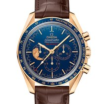 Omega Oro amarillo Cuerda manual Azul Árabes 42mm nuevo Speedmaster Professional Moonwatch