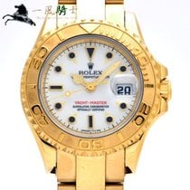 Rolex Yellow gold Automatic White 29mm pre-owned Yacht-Master