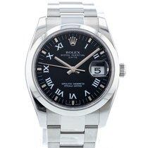 Rolex Oyster Perpetual Date Acél 34mm Fekete