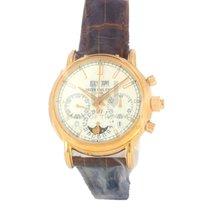 Patek Philippe Perpetual Calendar Chronograph Oro rosado 40.2mm Plata