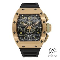 Richard Mille RM 011 Rose gold 49.94mm Transparent Arabic numerals United States of America, New York, New York