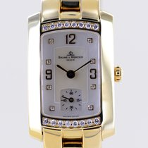 Baume & Mercier Hampton Yellow gold 23mm Mother of pearl Arabic numerals
