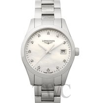 Longines Conquest Classic Steel 34.00mm White