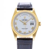 Rolex Day-Date 36 Or jaune 36mm Blanc