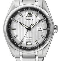 Citizen AW1240-57B Citizen Super Titanio Uomo 1240 42mm Argento 2020 nowość