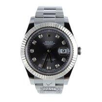 Rolex Datejust II Dark Rhodium 10 Diamonds