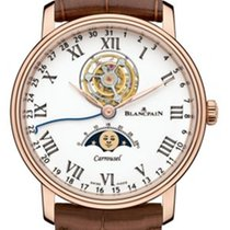 Blancpain Rose gold Automatic White Roman numerals 42mm new Villeret Moonphase