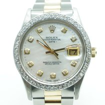 Rolex Oyster Perpetual Date pre-owned 34mm Gold/Steel