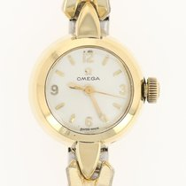 Omega Vintage Omega Ladymatic Watch - 18k Gold Stainless...
