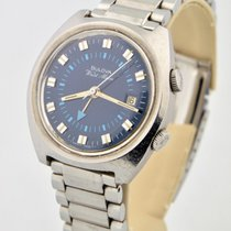 Bulova 36mm Manual winding 1973 pre-owned Blue