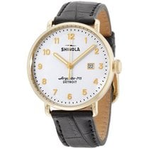 Shinola The Canfield White Dial Leather Strap Men's Watch...