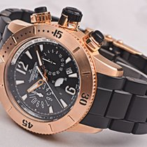 Jaeger-LeCoultre Rose gold Automatic Black pre-owned Master Compressor Diving Chronograph