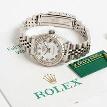 Rolex Oyster Perpetual Lady Date Acél 26mm Fehér