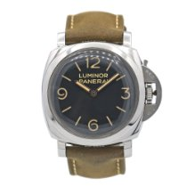 Panerai Luminor 1950 pre-owned 47mm Brown Leather