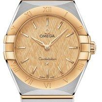 Omega Constellation Gold/Stahl 28mm Gelb
