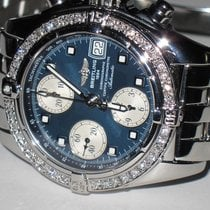 Breitling Chrono Cockpit Steel 39mm Blue No numerals United States of America, New York, NEW YORK CITY