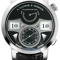 A. Lange & Söhne Zeitwerk White gold 44.2mm Black United States of America, New York, Airmont