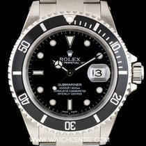 Rolex S/S Black Dial Submariner Date Gents NOS B&P 16610
