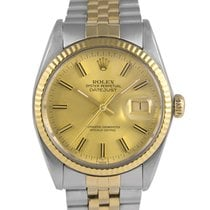 Rolex Datejust Steel & Gold with Champagne Dial, Ref: 16013