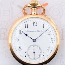 IWC Taschenuhr 750er Roségold Vintage arabic Dial Cal. 52 rar