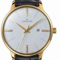 Junghans Meister Damen 047/7374.00 JUNGHANS MEISTER DAMEN PVD oro diamanti donna nuovo