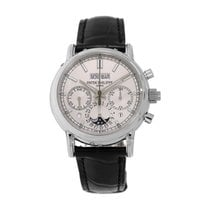 Patek Philippe Perpetual Calendar Chronograph Platinum 40mm Silver No numerals United States of America, New York, New York
