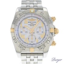 Breitling Chronomat Gold/Steel 44mm White Roman numerals