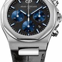Girard Perregaux Laureato 81020-11-631-BB6A Laureato Chronografo Acciaio Pelle 42 mm 2019 new