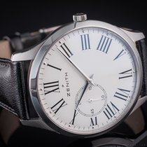 Zenith Elite Ultra Thin pre-owned 40mm White Leather