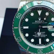 Rolex Submariner Date Stahl 40mm Grün Keine Ziffern