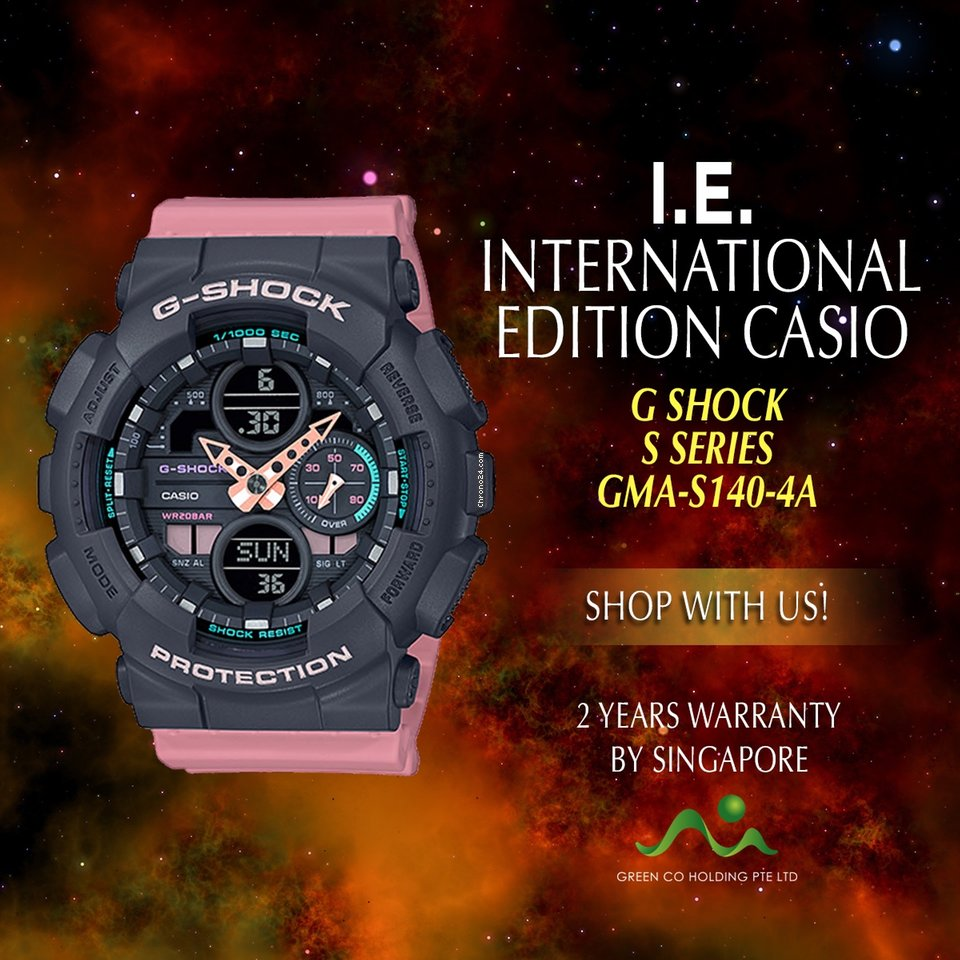 Casio International Edition G Shock S Series GMA S140 4A