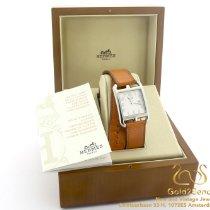 Hermès Cape Cod Aço 29mm Branco Árabes