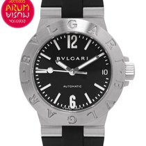 Bulgari Diagono Stal 29mm Czarny