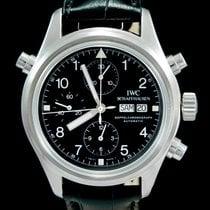 IWC Pilot Double Chronograph Acier 42mm Noir Arabes