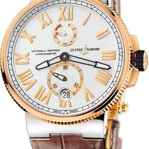 Ulysse Nardin 1185-122-41 Or/Acier 2012 Marine Chronometer Manufacture nouveau