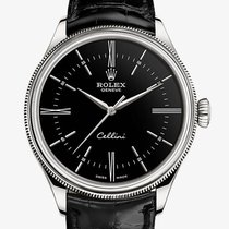 Rolex White gold Automatic Black 39mm new Cellini Time